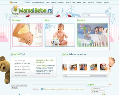 Izrada sajta Mama&Beba